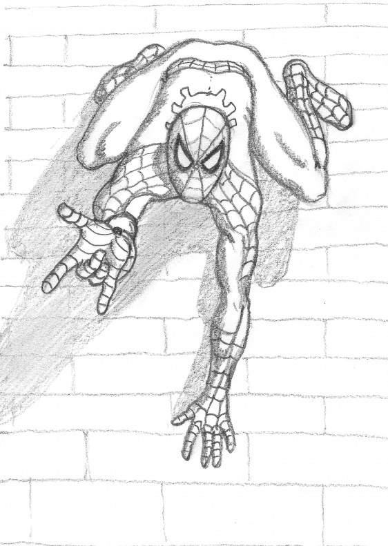 spiderman sketch